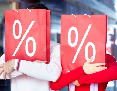 korting bij het winkelen